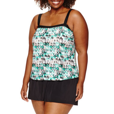 jcpenney.com | Azul by Maxine of Hollywood Pattern Swim Dress - Plus