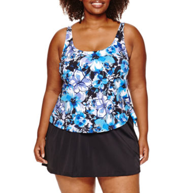 jcpenney.com | Azul by Maxine of Hollywood Floral Swim Dress Plus