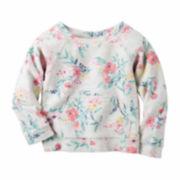 Carter's Girl Gray Floral Sweatshirt 2T-5T