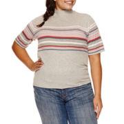 Arizona Elbow Sleeve T-Shirt-Juniors Plus