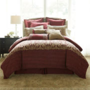 Royal Velvet® Malaga 4-pc. Jacquard Comforter Set & Accessories