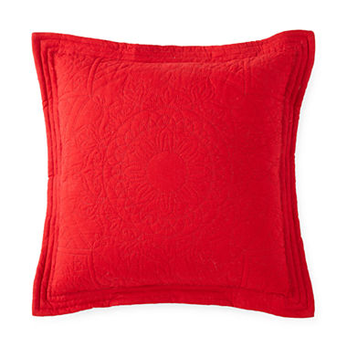 Jcpenney Red Decorative Pillows : Home Expressions Emma Square Decorative Pillow - JCPenney