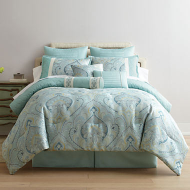 Home expressions lucerne 7 pc comforter set for Bedroom expressions