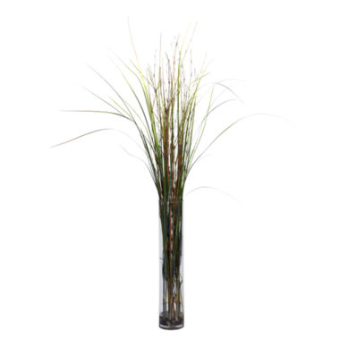 jcpenney.com | Nearly Natural Grass & Bamboo Faux-Silk Plant with Cylinder