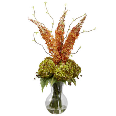 jcpenney.com | Nearly Natural Fancy Foxtail & Hydrangea Arrangement