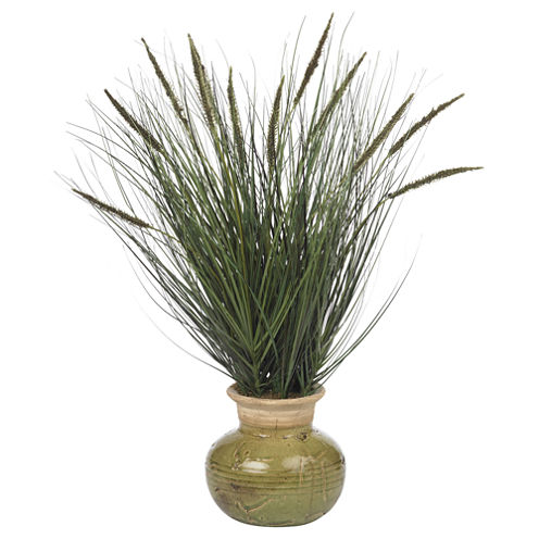 Nearly Natural 27 Grass Silk Plant with Mini Cattails