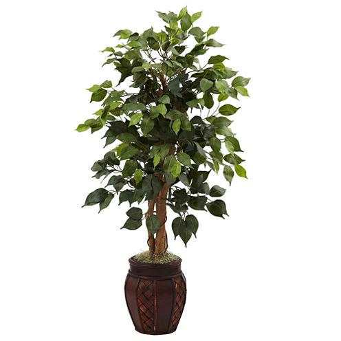 "44"" Ficus Tree With Decorative Planter"