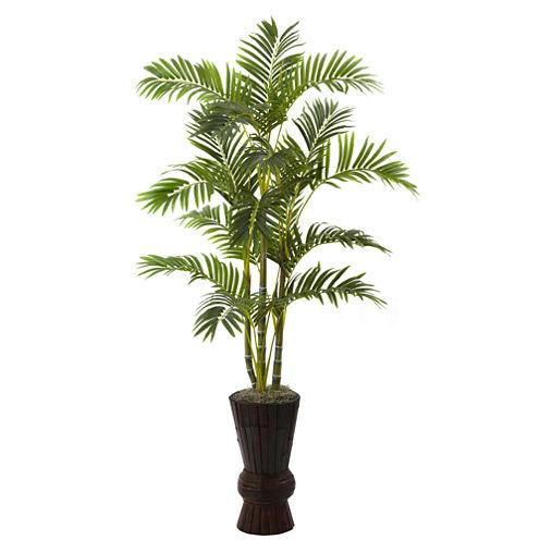 """62"""" Areca Tree With Decorative Planter"""