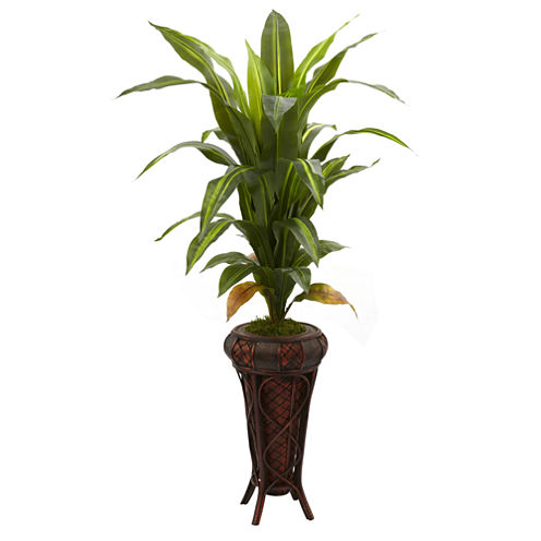 "57"" Dracaena Silk Plant with Stand - Real Touch"