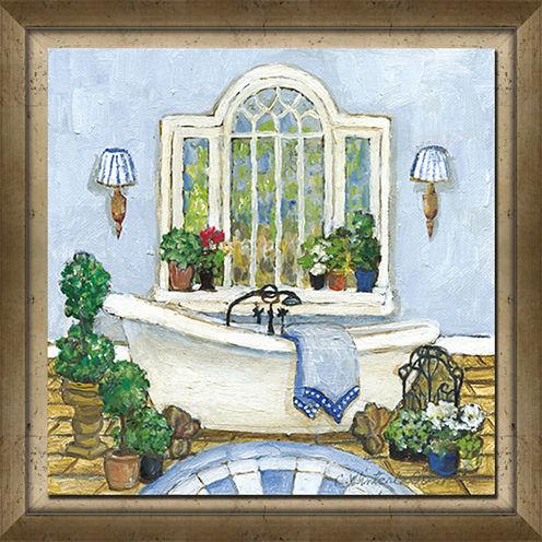 Blue Bath I Framed Art
