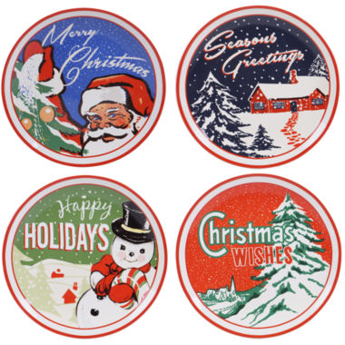 jcpenney.com | Certified International Retro Christmas 4-pc. Dinner Plate
