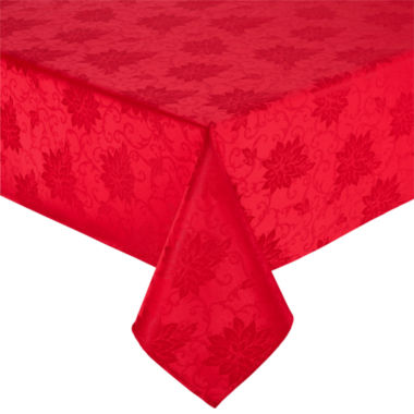 jcpenney.com | North Pole Trading Co Poinsettia Damask Tablecloth