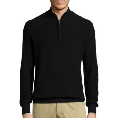 jcpenney.com | Claiborne® Long-Sleeve Thermolite Quarter-Zip Sweater