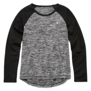jcpenney.com | Champion® Long-Sleeve Space-Dye Raglan Tee - Girls 7-16