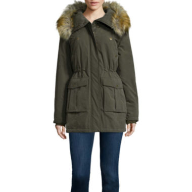 jcpenney.com | a.n.a® Faux-Fur Trim Parka - Tall
