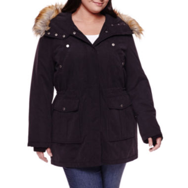 jcpenney.com | a.n.a® Faux Fur Trim Parka - Plus