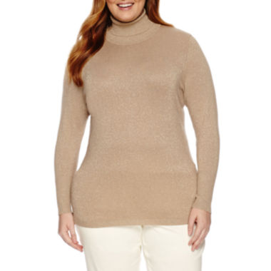 jcpenney.com | Worthington® Long Sleeve Turtleneck Sweater - Plus