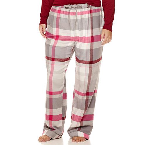 Liz Claiborne® Flannel Pants - Plus