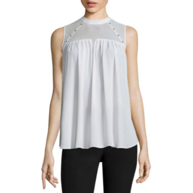 jcpenney.com | Worthington® Sleeveless Stud Pleated Top - Tall