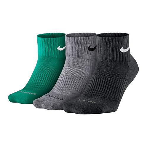 Nike® 3-pk. Dri-FIT Quarter Socks - Big & Tall