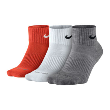 jcpenney.com | Nike® 3-pk. Dri-FIT Quarter Socks - Big & Tall