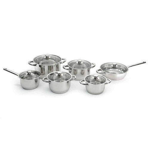 BergHOFF Vision 12pc Premium Stainless Steel Cookware Set
