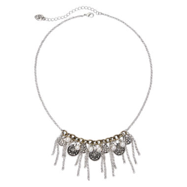 jcpenney.com | Messages from the Heart® by Sandra Magsamen® Chain Fringe and Disk Statement Necklace