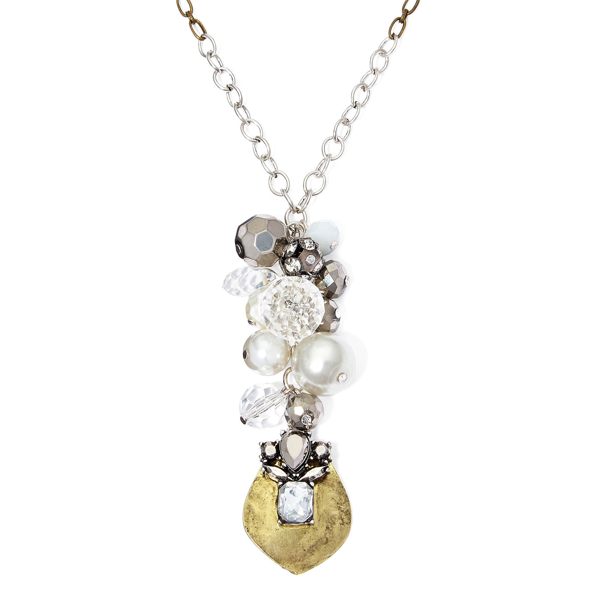 Messages from the Heart by Sandra Magsamen Two-Tone Charm Necklace