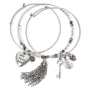 Messages from the Heart® by Sandra Magsamen® 3-pr. Bangle Bracelet Set