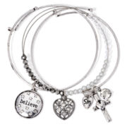 Messages from the Heart® by Sandra Magsamen® 3-pc. Believe Bangle Bracelet Set