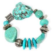 Aris by Treska Aqua Chunky Bead Stretch Bracelet
