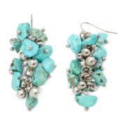 Aris by Treska Aqua Bead Cluster Earrings