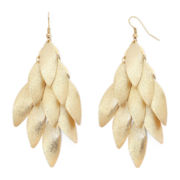 Bold Elements™ Gold-Tone Textured Disc Chandelier Earrings