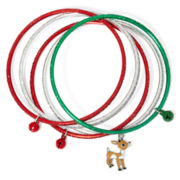 Rudolph the Reindeer 5-pc. Christmas Glitter Bangle Set