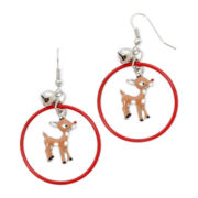 Rudolph the Red-Nosed Reindeer Earrings