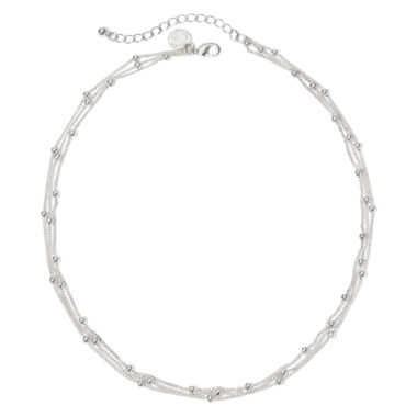 jcpenney.com | Liz Claiborne® Silver-Tone 3-Strand Ball Layered Necklace