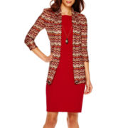 Danny & Nicole® 3/4-Sleeve Knit Jacket Dress