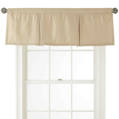 jcpenney.com | Royal Velvet® Supreme Rod-Pocket Lined Box Pleat Valance