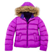 Arizona Faux Fur-Trimmed Puffer Jacket - Girls 7-16