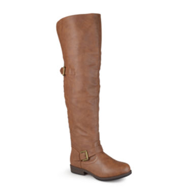jcpenney.com | Journee Collection Kane Over-the-Knee Riding Boots - Wide Calf
