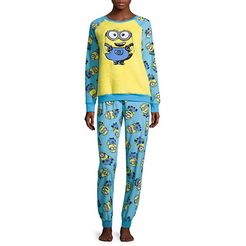 Minions Fleece Pant Pajama Set-Juniors