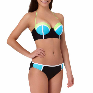 jcpenney.com | Arizona Colorblock Push-Up Midkini Swim Top or Colorblock Hipster Swim Bottoms