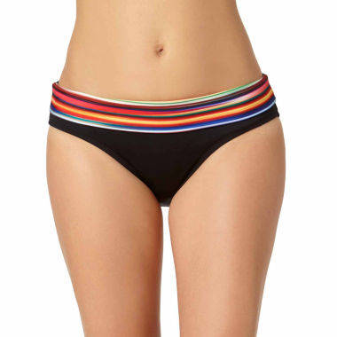 jcpenney.com | a.n.a® Mix & Match Striped Ombre Foldover Hipster Swim Bottoms