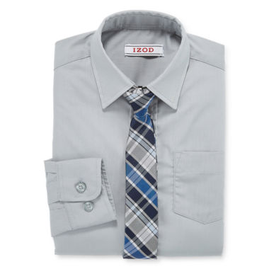 jcpenney.com | IZOD® Shirt and Clip-On Tie Set - Boys Husky