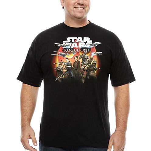Star Wars Short Sleeve Crew Neck T-Shirt-Big and Tall