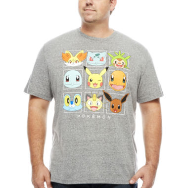 jcpenney.com | Pokemon Short Sleeve Crew Neck T-Shirt-Big and Tall