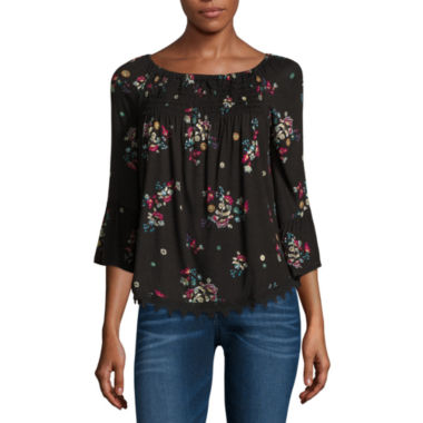 jcpenney.com | Love And Let Love Long Sleeve Knit Blouse-Juniors