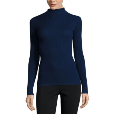 jcpenney.com | Ohmg Long Sleeve Turtleneck Pullover Sweater-Juniors