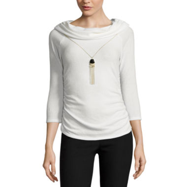 jcpenney.com | by&by Long Sleeve Cowl Neck Blouse-Juniors