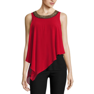 jcpenney.com | by&by Sleeveless Scoop Neck Georgette Blouse-Juniors